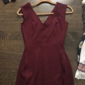 Maroon bodycon french connection dress